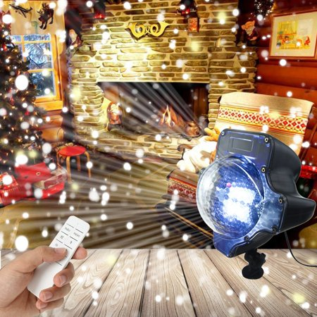 pumpkin shape led snowfall light rf remote control snowfall projector light snowing light led landscape christmas