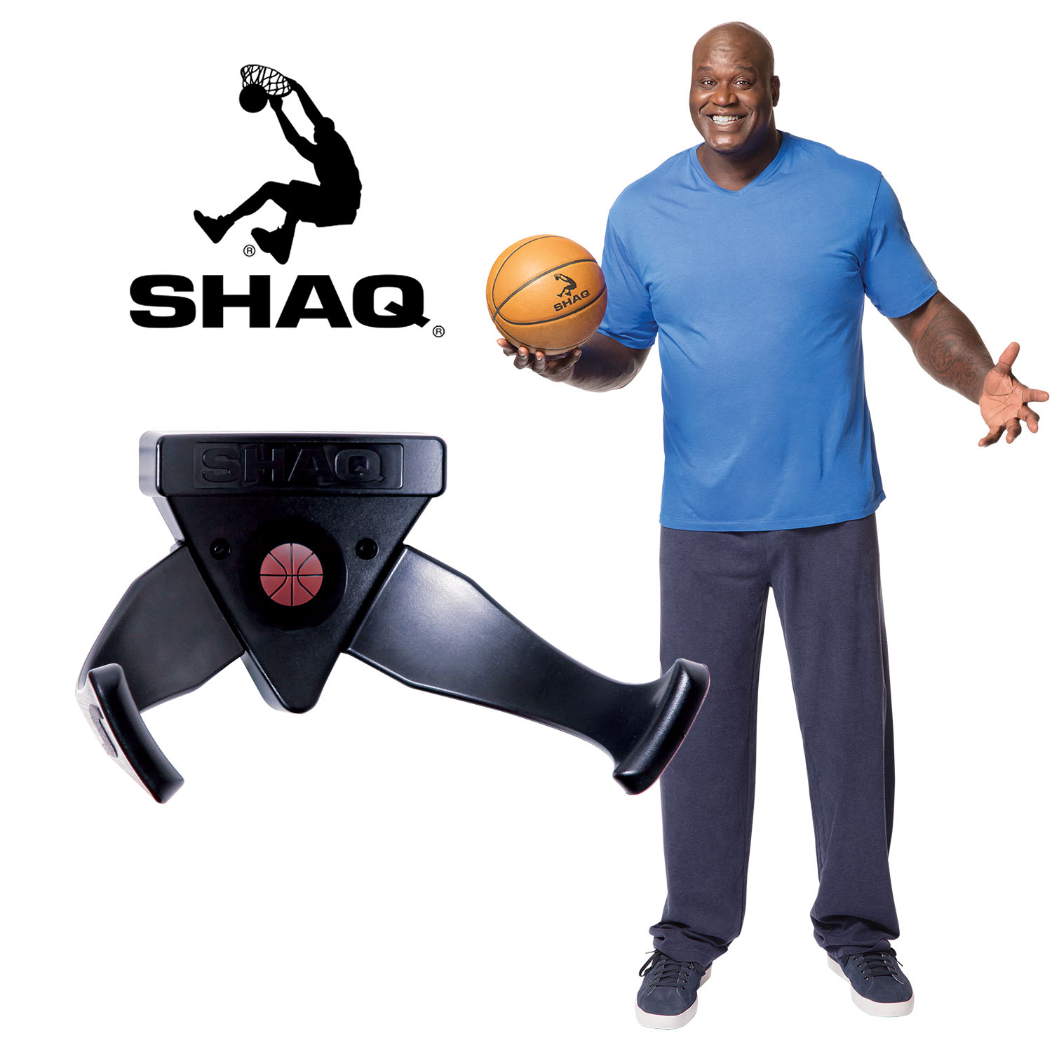 Shaq Ball Holder Storage & Decoration Shelf Ball Claw basketball Wall Mounted Floating Shelf Bracket Ball Claw