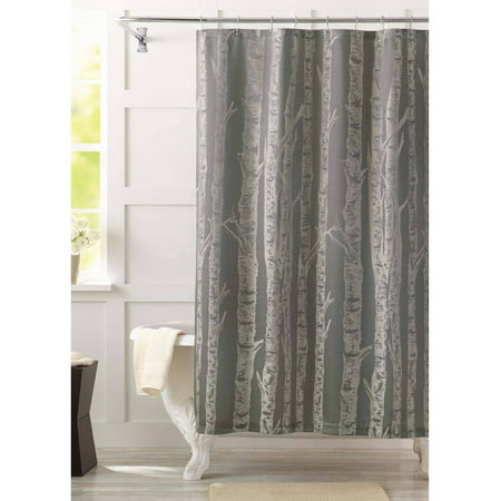 Better homes and gardens birch fabric shower curtain Better homes and gardens curtains