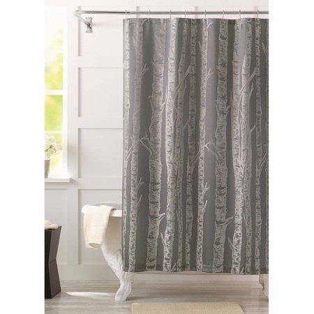 Better homes and gardens birch fabric shower curtain Better homes and gardens shower curtains