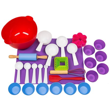 Kids Deluxe Baking Set - Cookies and Cupcakes - 38 Pieces](Kids Real Baking Set)
