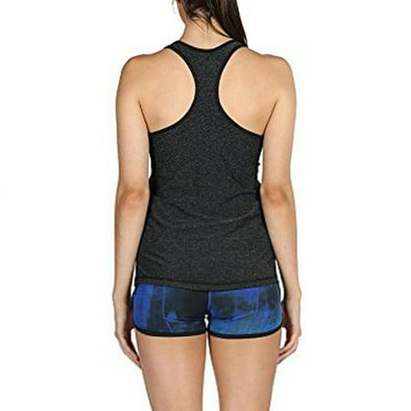 Tuscom Women Activewear Running Workouts Yoga Sport Racerback Tank Tops Blouse ()