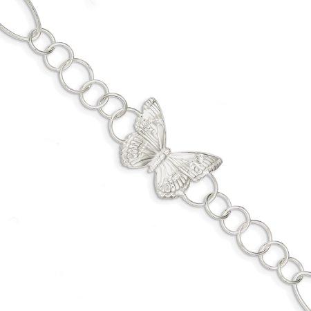 925 Sterling Silver Butterfly Bracelet 7.50 Inch Animal Fancy Fine Jewelry Ideal Gifts For Women Gift Set From Heart