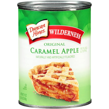 (3 Pack) Duncan Hines Wilderness Original Caramel Apple Pie Filling & Topping, 21 oz