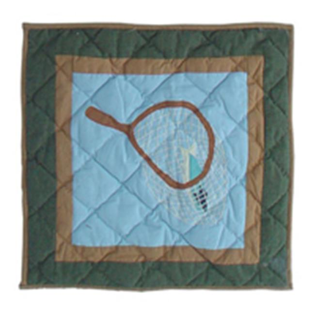 Patch Magic TPFFSH Fly Fishing, Toss Pillow 16 x 16 inch