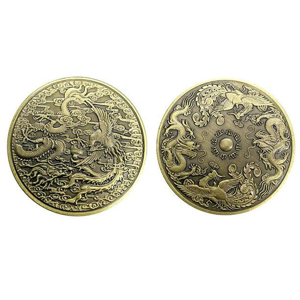 Dragon And Phoenix Chengxiang Commemorative Coin Zodiac Dragon And Phoenix Animal Coin Metal Badge Gift Art Collection Acrylic Walmart Com Walmart Com