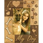 Giftworks Plus IHS0004 I Heart My Dog, Alder Wood Frame, 5 x 7 In