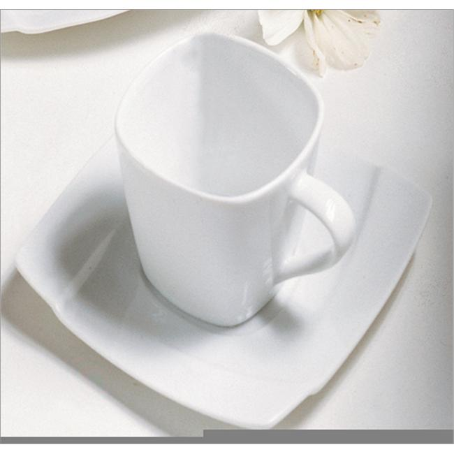 Ten Strawberry Street Nouveau Square - 5 Oz Cup And Saucer - Set Of 6