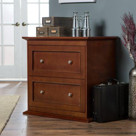 Belham Living Hampton 2-Drawer Lateral Wood Filing Cabinet - Cherry (Hampton Bay Bath Cabinet)