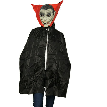Unique Bargains Sharp Teeth Blood Sucker Halloween Costume Mask Cape