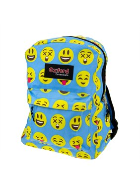 Oxford Essentials Emoji Kids Backpack with Emoticon Faces, 15""