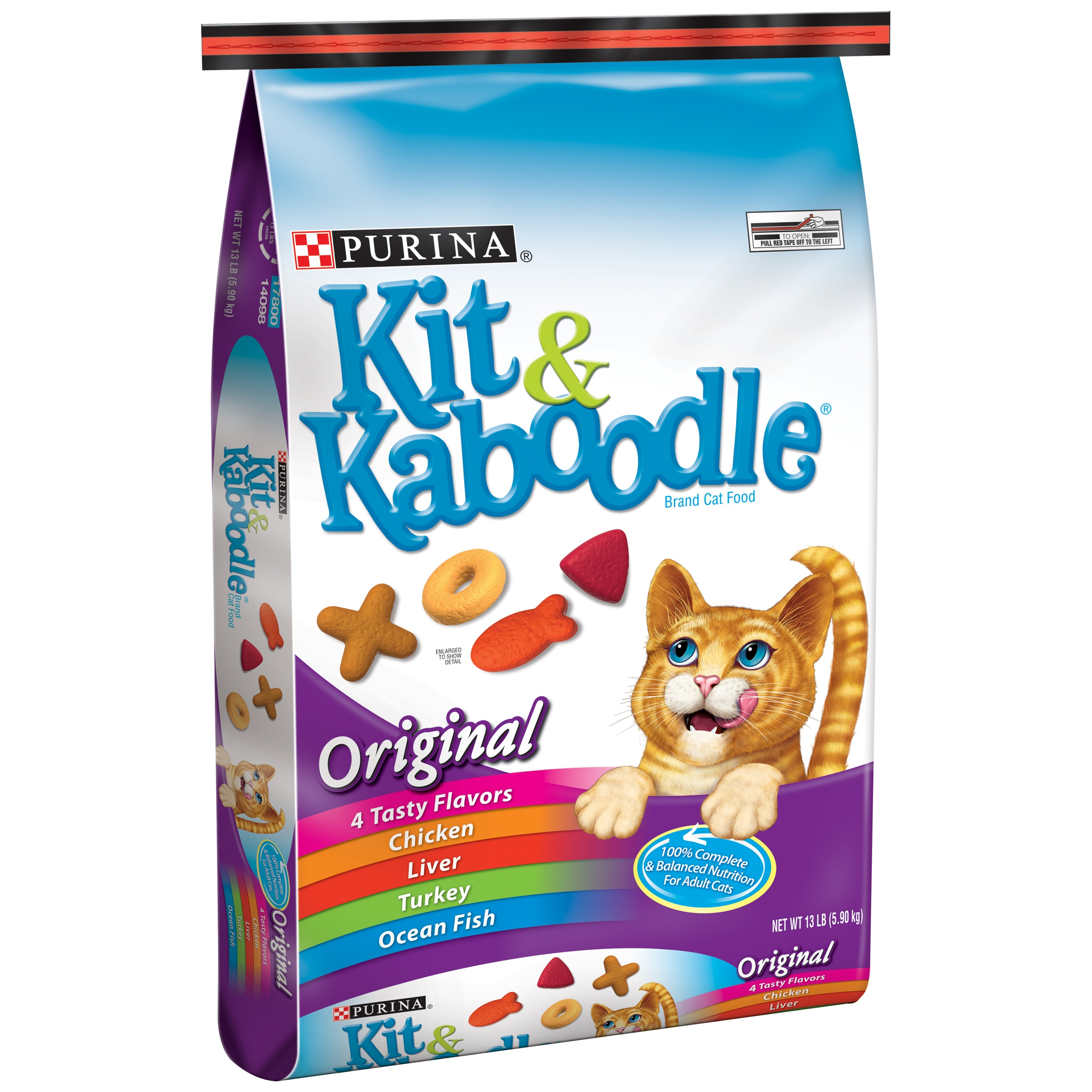 Purina Kit & Kaboodle Original Dry Cat Food, 13 Lb