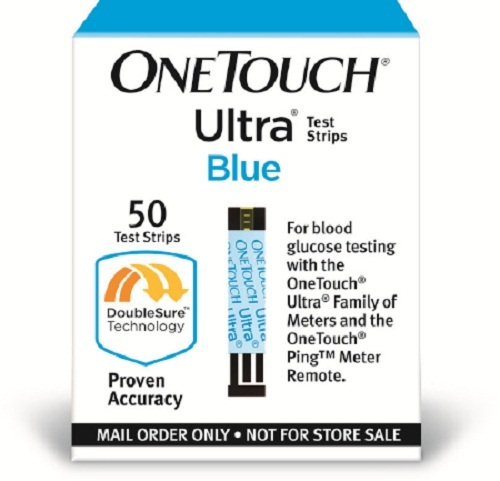Blood Glucose Test Strips OneTouch Ultra 50 Test Strips per Box-Box of 50