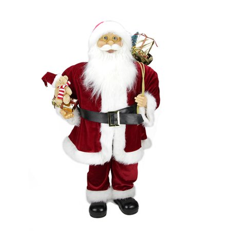 The Holiday Aisle Traditional Standing Santa Claus Christmas Figure