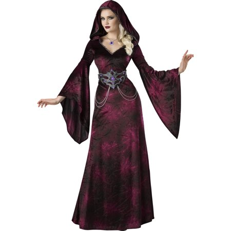 Dark Realm Sorceress Womens Adult Vampire Witch Halloween Costume (Halloween Costumes Vampire Teeth)