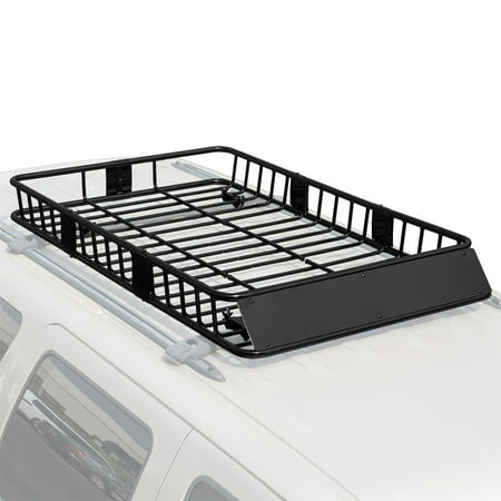 "Stark 64"" Universal Roof Rack Cargo Extension Car Top Luggage Holder Large Carrier Basket"
