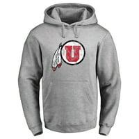 Utah Utes Classic Primary Logo Pullover Hoodie - Ash