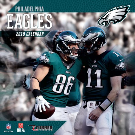 2019 12X12 TEAM WALL CALENDAR, PHILADELPHIA EAGLES