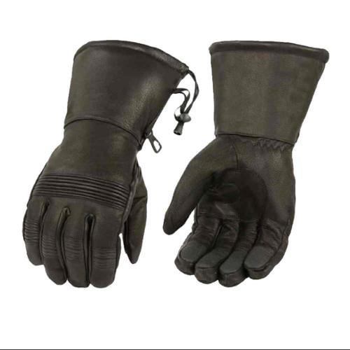 Milwaukee Leather Men's Premium Leather Full-Finger Gauntlet Gloves SH294 (2XL) - 2X-Large SH294-2XL
