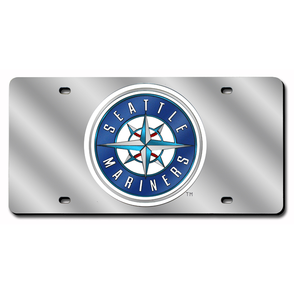 Seattle Mariners MLB Laser Cut License Plate Cover