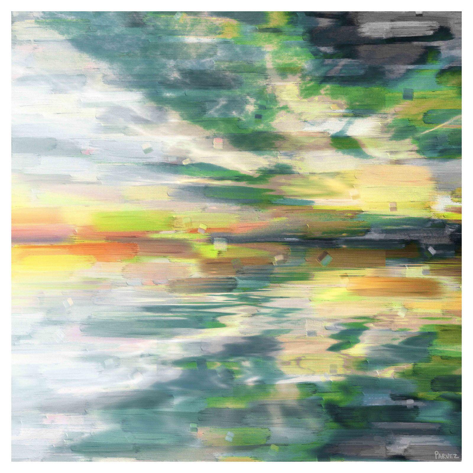 Parvez Taj Color Explosion Painting Print on Wrapped Canvas