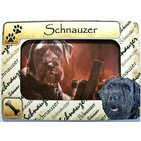 Schnauzer Dog Breed Picture Frame Fridge