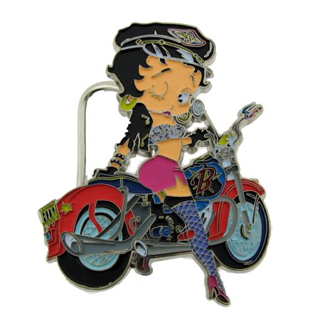 Officially Licensed Belt Buckle (Betty Boop Motor Bike New Belt Buckle Original Officially Licensed Fashion Metal)