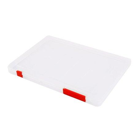 Office School Plastic A4 Paper File Document Receipt Holder Storage Box Case Red