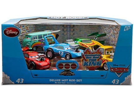 Disney   Pixar CARS Movie Exclusive 1:43 Die Cast Car 5-Pack Deluxe Hot Rod Set [BLUE PACK] [Lightning... by