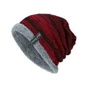 Men's Boy Knit Wool Beanie Soft Hats Winter Warm Ski Slouch Baggy Outdoor Caps