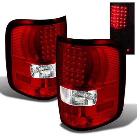 2004 2008 f 150 f150 red clear led tail lights lamps left right 2005. Black Bedroom Furniture Sets. Home Design Ideas