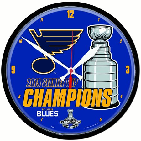Louis Blues Personalized Clock (St. Louis Blues 2019 Stanley Cup Champions WinCraft Round Wall)