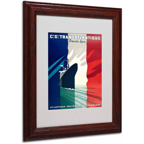 "Trademark Fine Art ""Atlantique-Pacifique,"" Wood Frame"