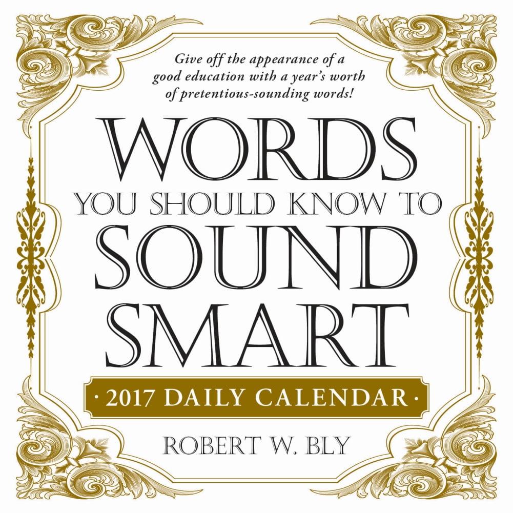 More Words To Sound Smart Desk Calendar Walmart Com