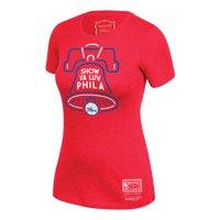 Philadelphia 76ers Mitchell & Ness Women's Hardwood Classics Bell Hometown T-Shirt - Red