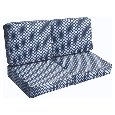 Mozaic Company Hockly 4 Piece Outdoor Corded Loveseat Cushion Set ()