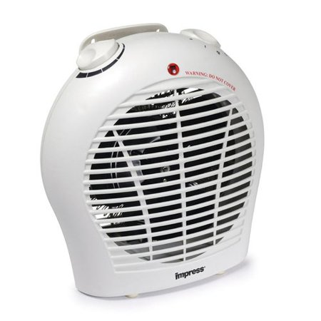 Impress IM-702 1500 watt 2 Speed Fan Heater with Adjustable Thermostat (2 Speed Heater)