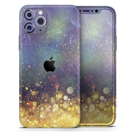 Unfocused MultiColor Gold Sparkle - DesignSkinz Protective Vinyl Decal Wrap Skin Cover compatible with the Apple iPhone 7 (Full-Body, Screen Trim & Back Glass Skin)