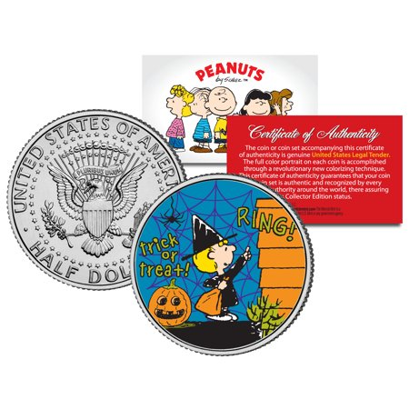 Peanuts HALLOWEEN SALLY TRICK OR TREAT JFK Half Dollar U.S. Coin *Licensed* - Halloween Retail
