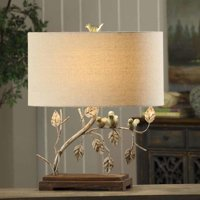 Ella 23-Inch Table Lamp, Antique Blue and Green