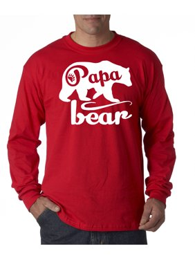 6e631bfc5 Product Image 787 - Unisex Long-Sleeve T-Shirt Papa Bear Grizzly Father's  Day Padre Paternal