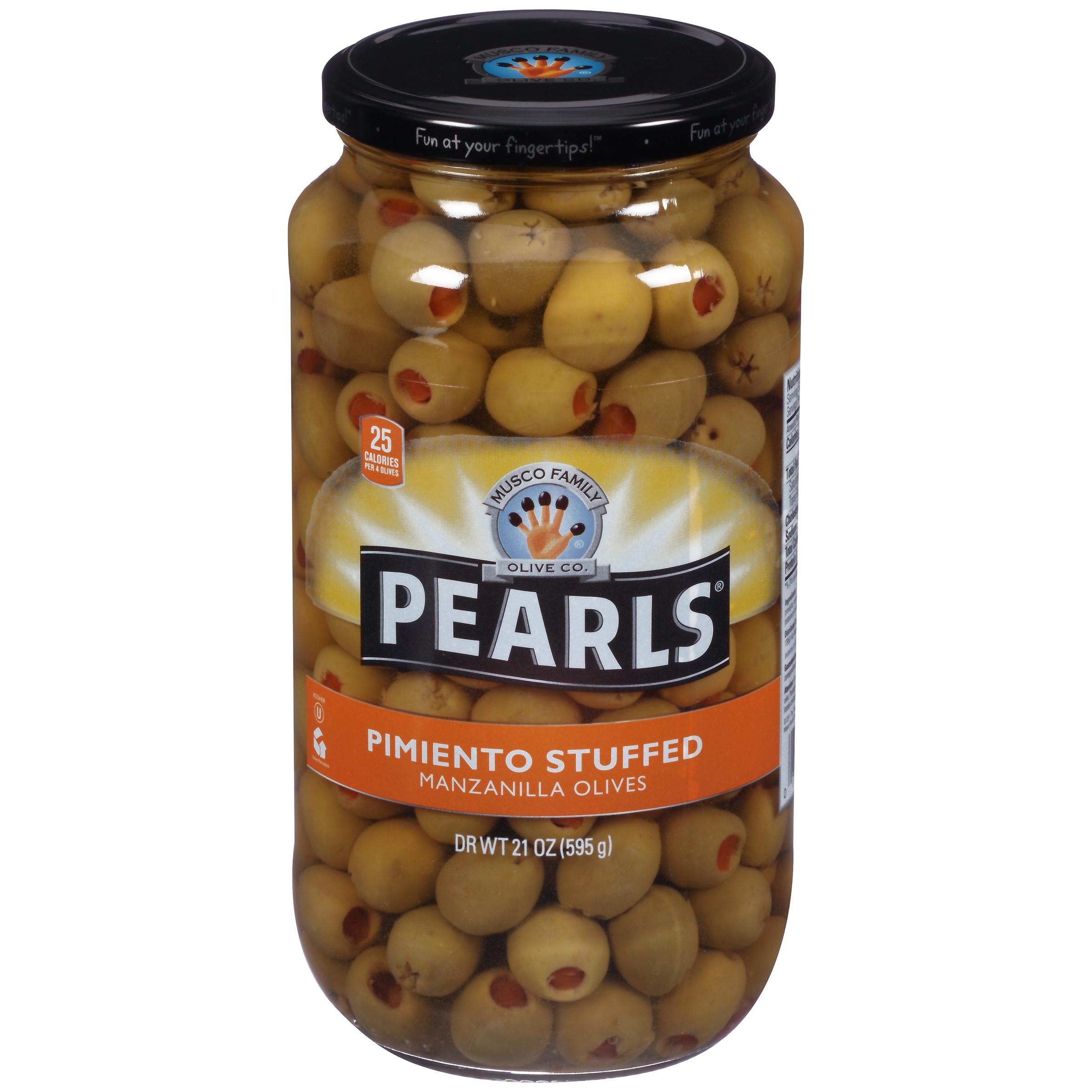 Pearls® Pimiento Stuffed Manzanilla Olives, 21 oz. Jar