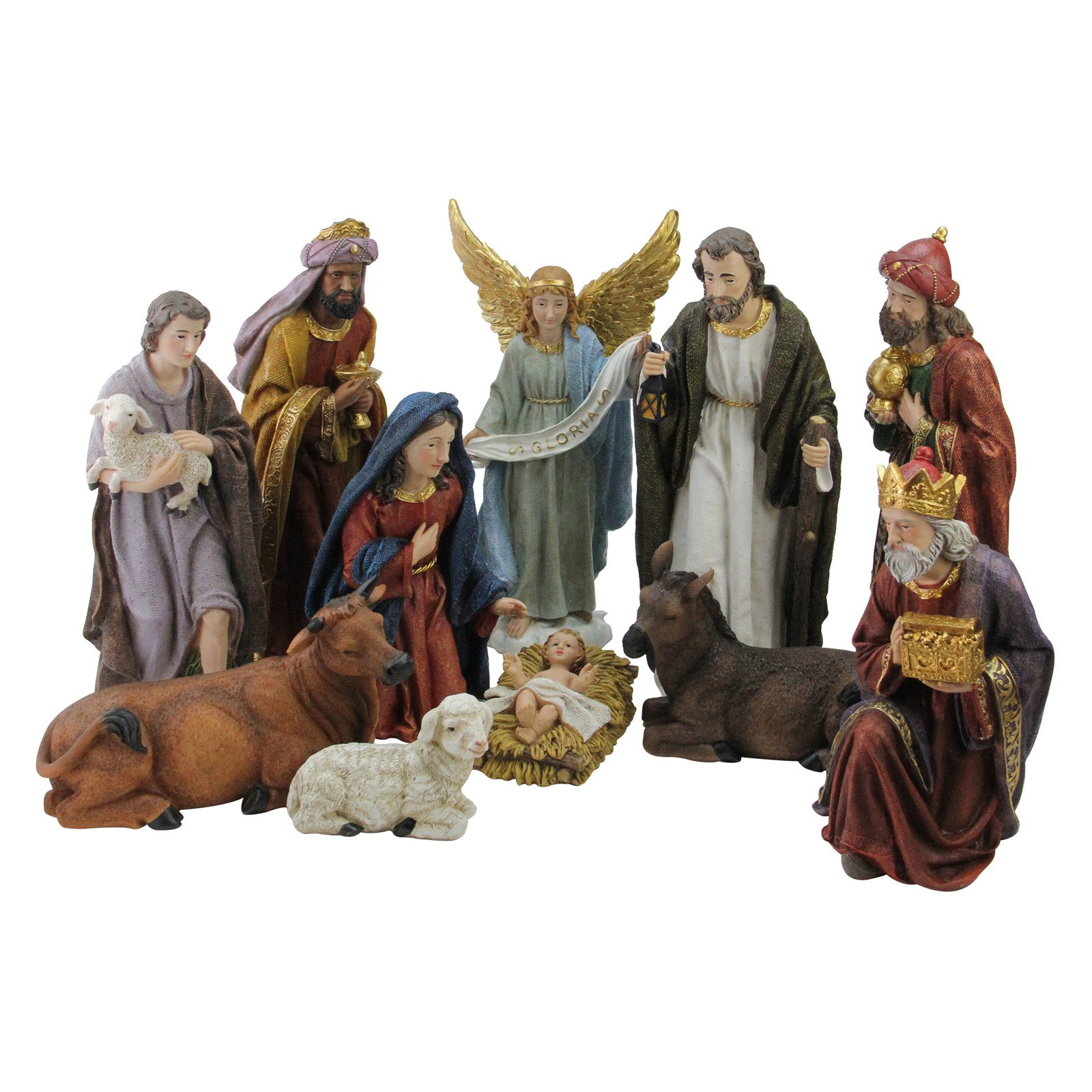 Northlight Serene Christmas Nativity 11 Piece Figure Set