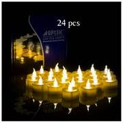 AGPtek 24pcs/100pcs Flameless LED Candle Battery Operated Flickering Flashing Amber Tea Light