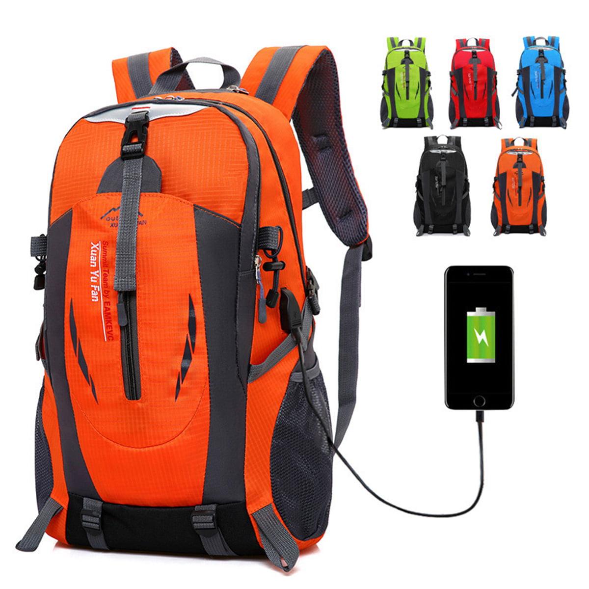 50L Tactical Military Backpack Hiking Trekking Bag USB Port Waterproof Outdoor
