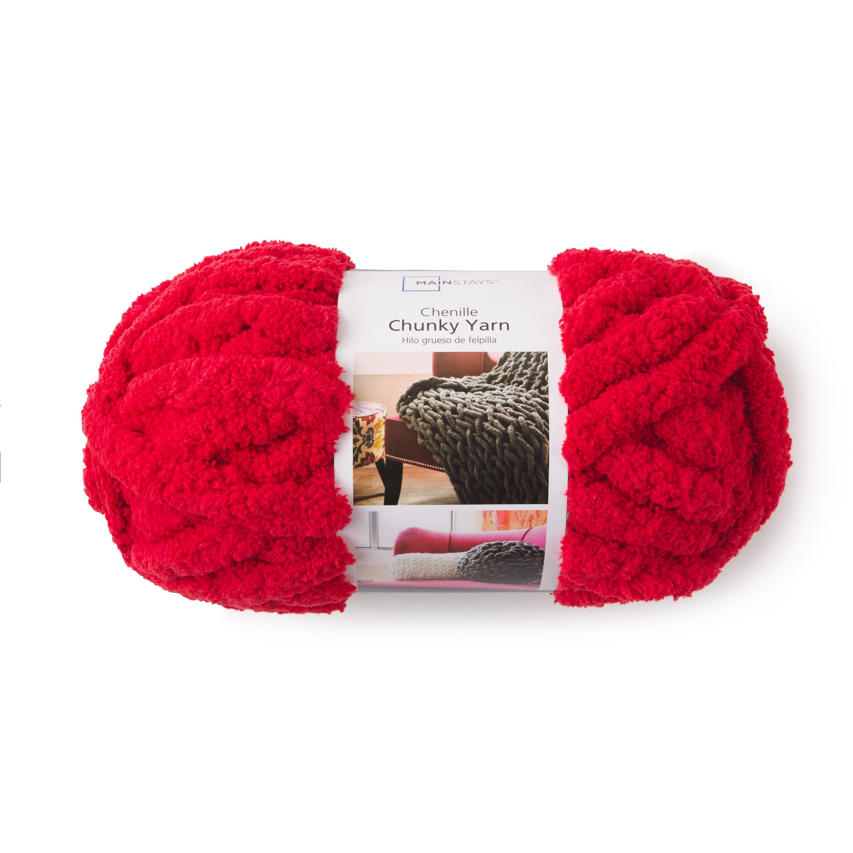 Mainstays Chunky Chenille Yarn, 31 7 Yd  – Walmart Inventory
