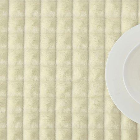 "Sofa Blanket Refined Craft Plaid Flannel Fleece Blanket Knee Blanket Wool Velvet- 59""x78"", Light Yellow - image 4 of 8"