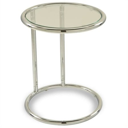 Yield Glass Circle Table, Chrome and Clear Glass ()