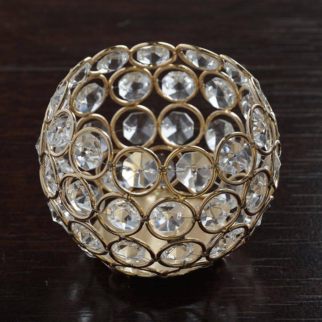 "BalsaCircle 3.5"" tall Crystal Candle Holder Wedding Centerpiece"