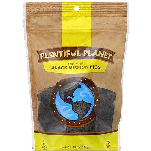 Plentiful Planet Organic Black Mission Figs, 10 oz, (Pack of 6)